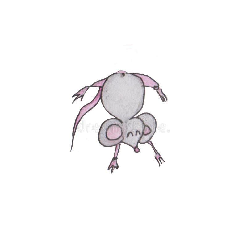 badge modello 2020 per mouse Happy New Year, insignia. Segno di topo, oroscopo ratto. Anno cinese della Rat 2020 royalty illustrazione gratis