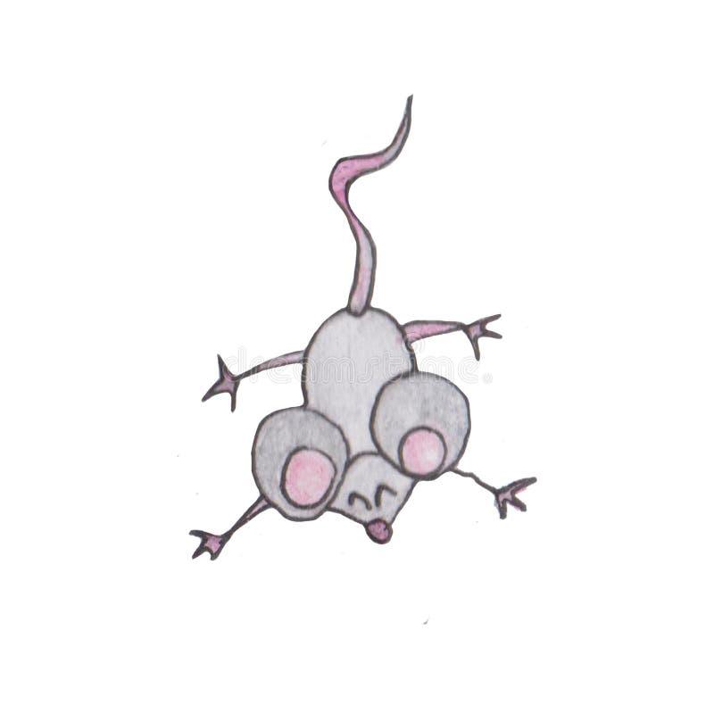 badge modello 2020 per mouse Happy New Year, insignia. Segno di topo, oroscopo ratto. Anno cinese della Rat 2020 illustrazione di stock