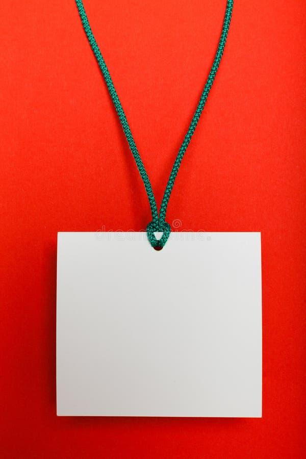 Badge name lanyard, corporate id mockup. Staff card, blank label.  royalty free stock image