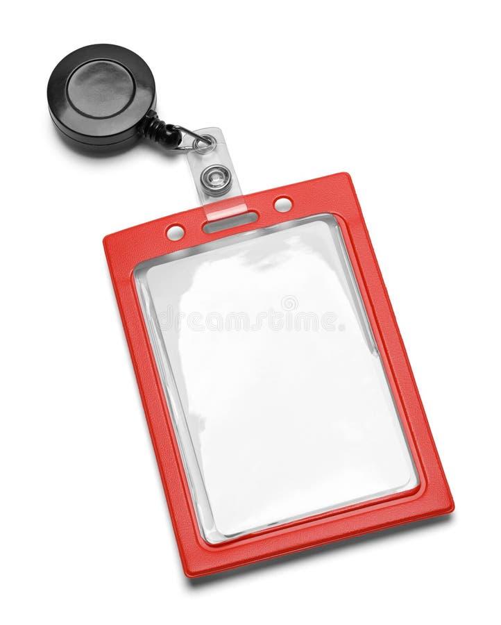 Badge nominatif Lanyard Red photos stock