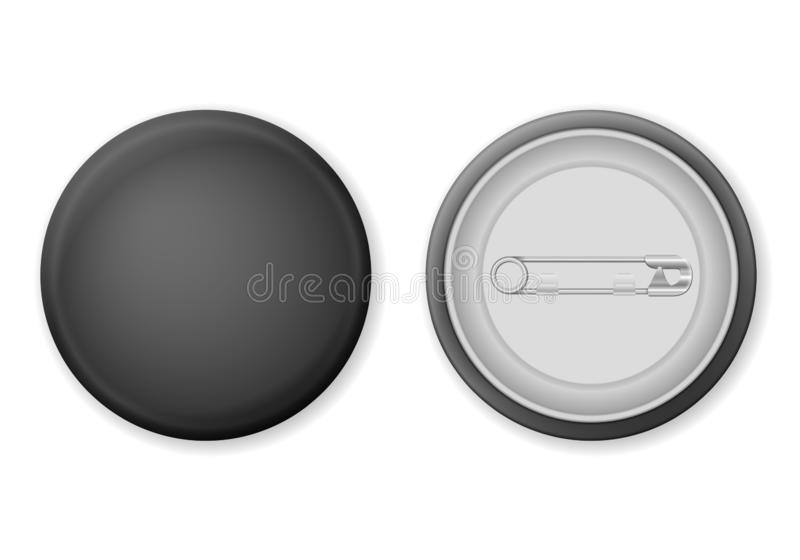Badge pin. On a white background. Vector illustration vector illustration