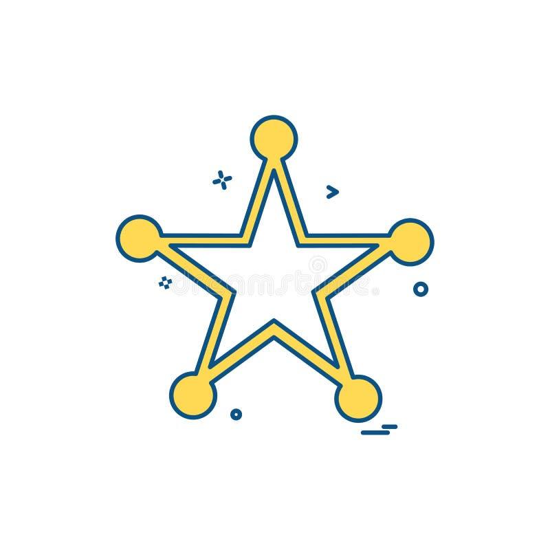 badge police award law icon vector design stock illustration