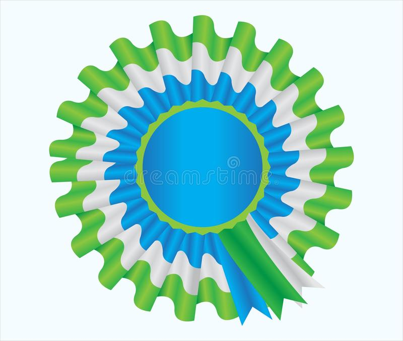 Badge with ribbon stock photography