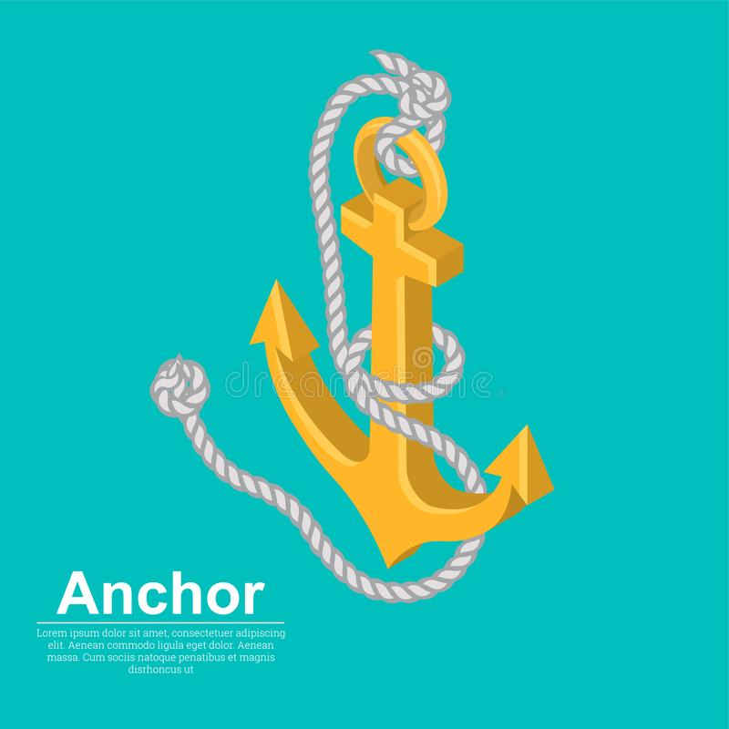 Badge a sea anchor royalty free illustration