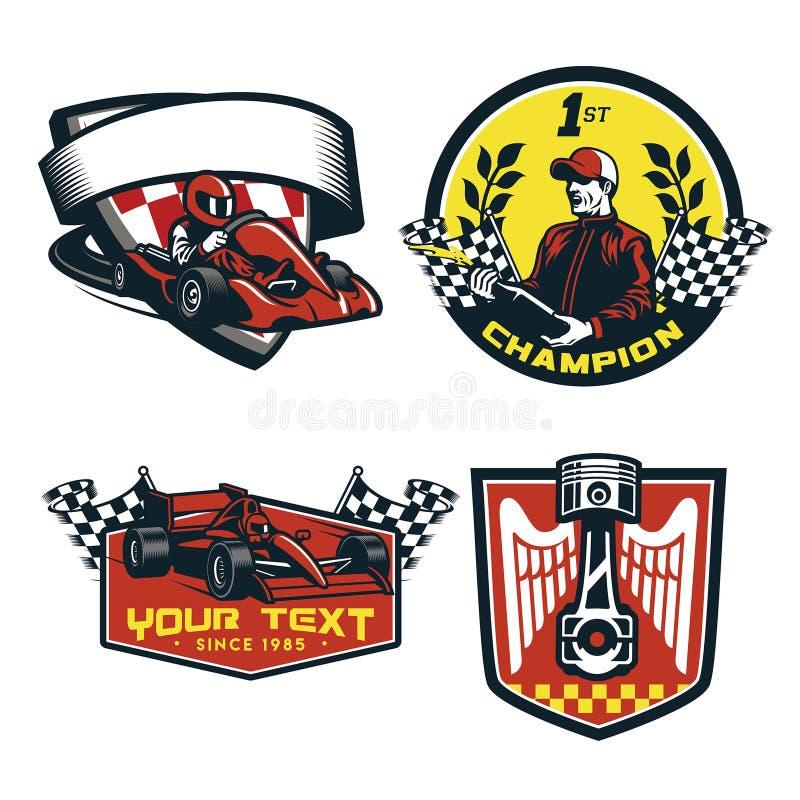 Car Racing Emblem And Championship Race Badge Stock Vector