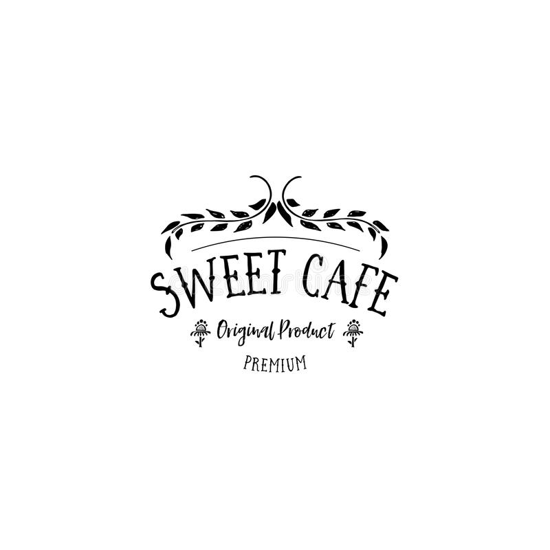 Badge set for small businesses - sweet bakery. The pattern printing plate handmade works written by hand font. It can be. Handmade Logo set for small businesses royalty free illustration