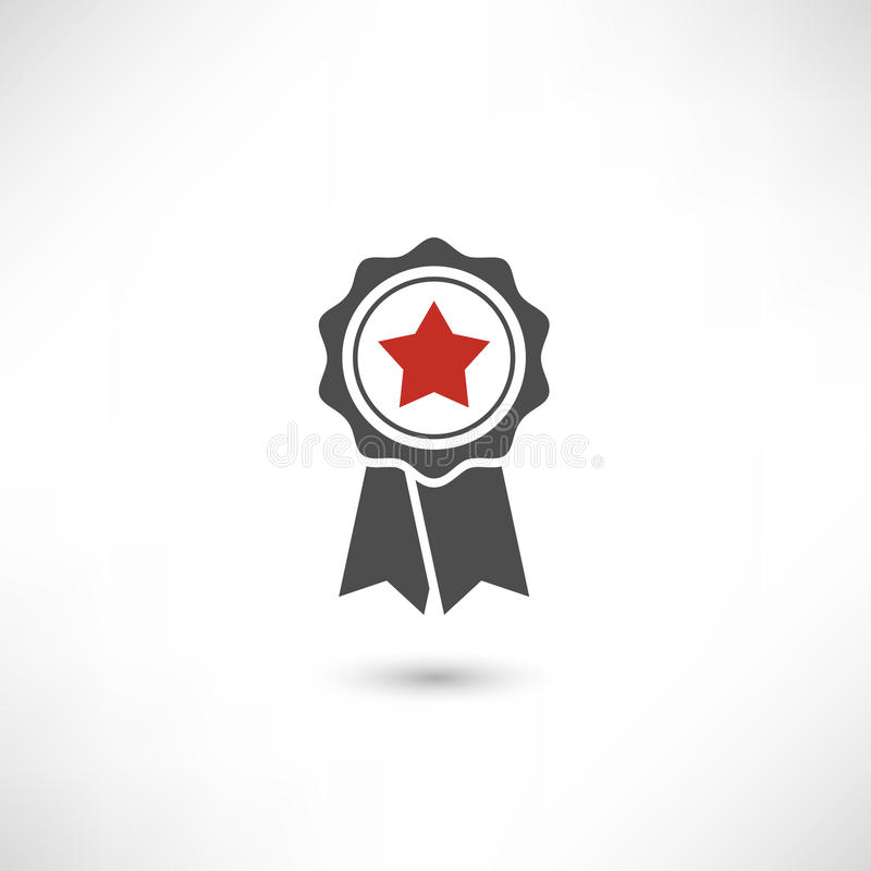 Badge Star Red royalty free illustration
