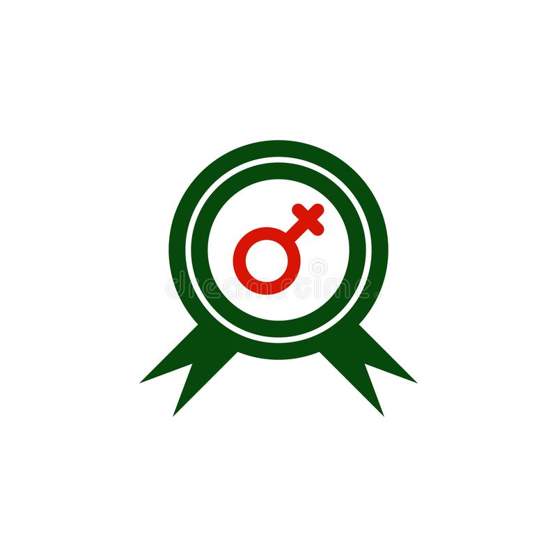8 March Badge With Heart Icon On White Background  Women`s