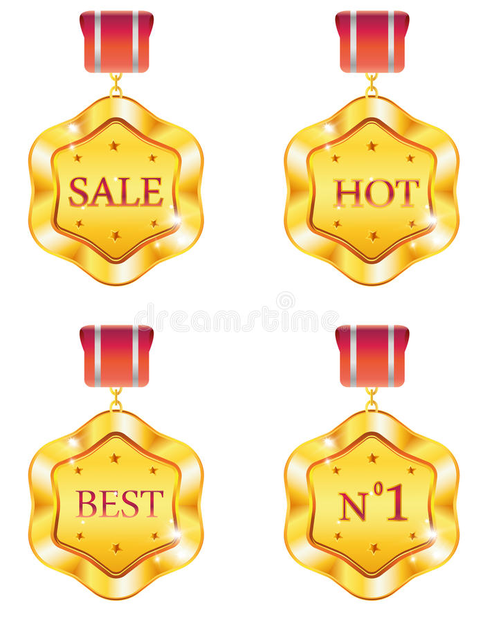 Download Badges stock vector. Image of icon, golden, decorative - 27382901