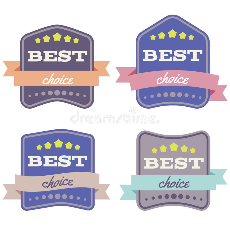 Download Badges-04 vektor illustrationer. Illustration av mall - 78728339