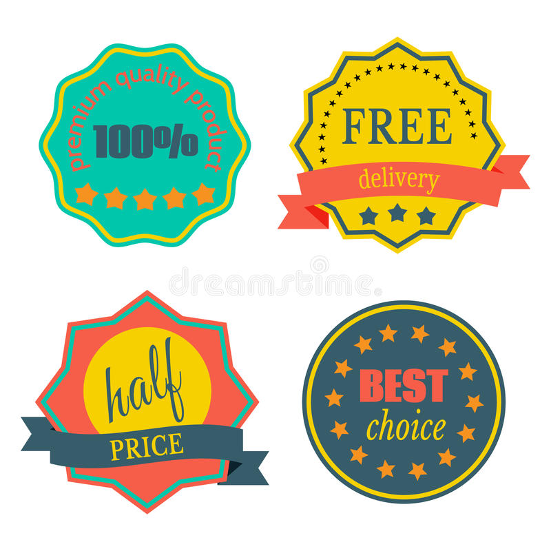 Badges-13 ilustração royalty free