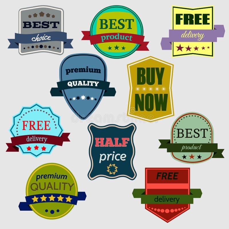 Badges-19 ilustração stock