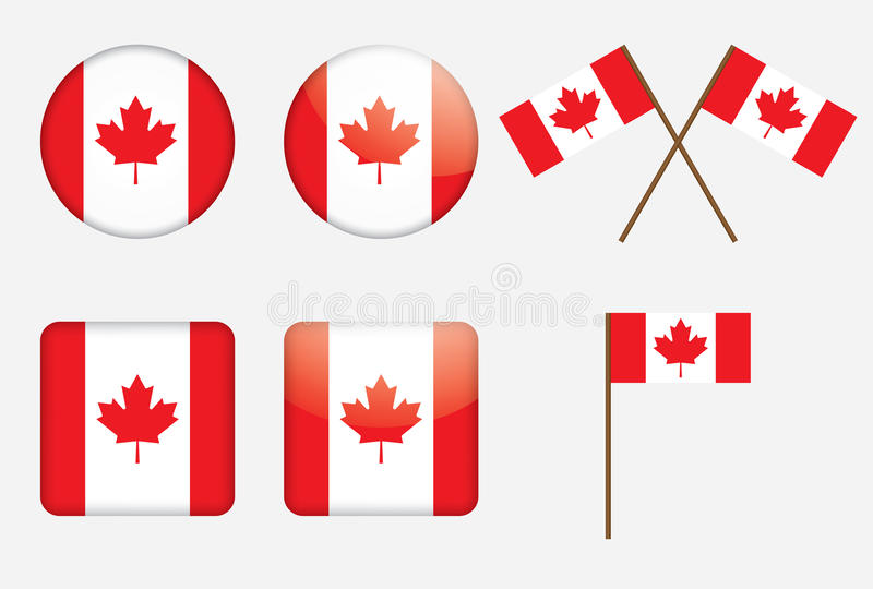 Download Badges With Canadian Flag Stock Photos - Image: 24907193