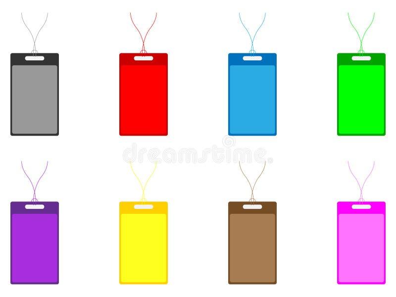 Badges ID Vector Illustration Stock Photo