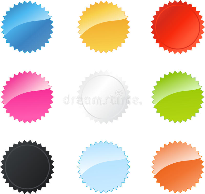 badges l'étoile multicolore illustration stock