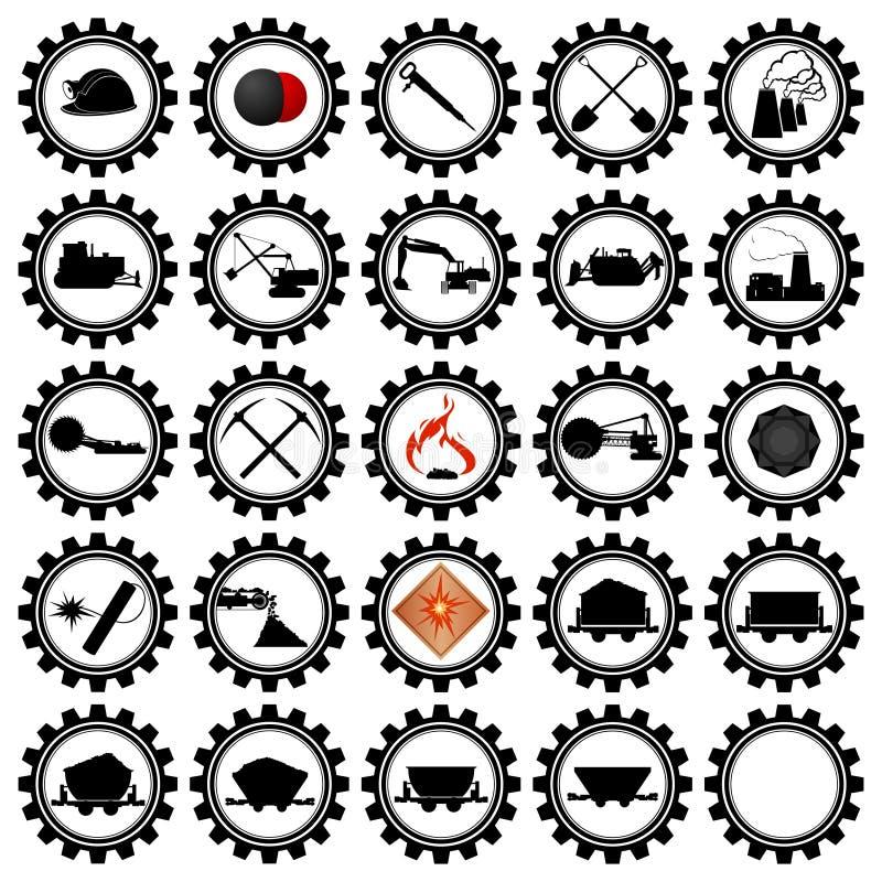 Badges l'industrie charbonnière illustration de vecteur