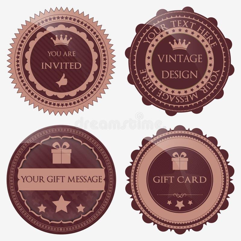 Badges set royalty free illustration