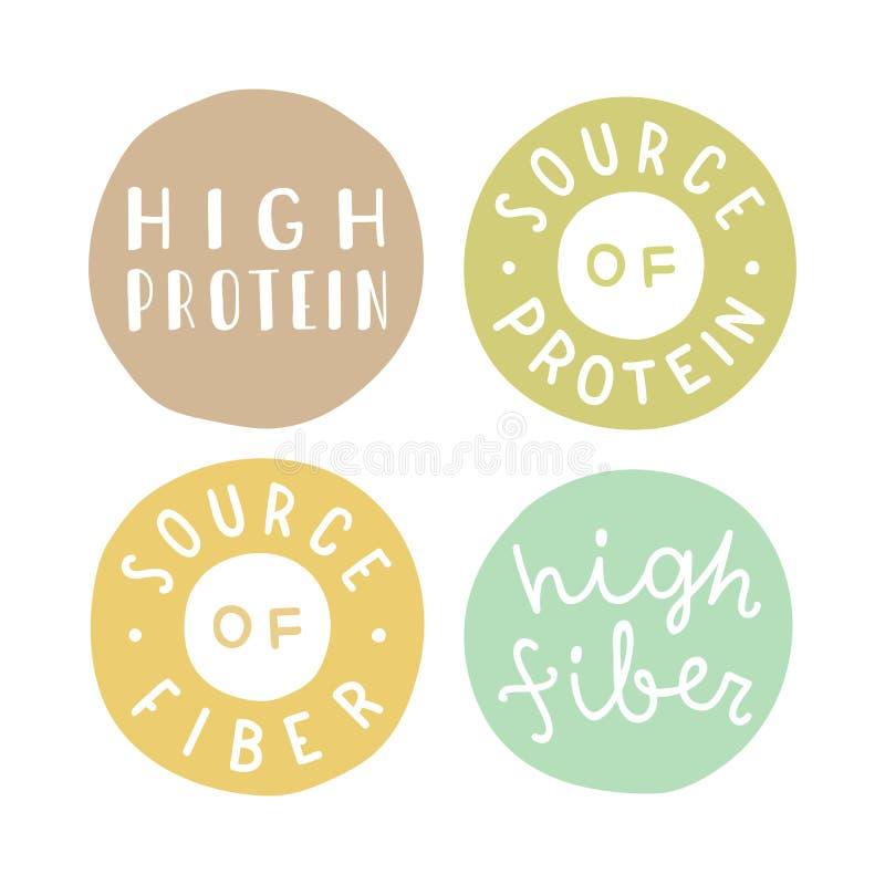 Vintage Premium Product Flat Badges Set: A Set Of High Quality Badges Stock Vector