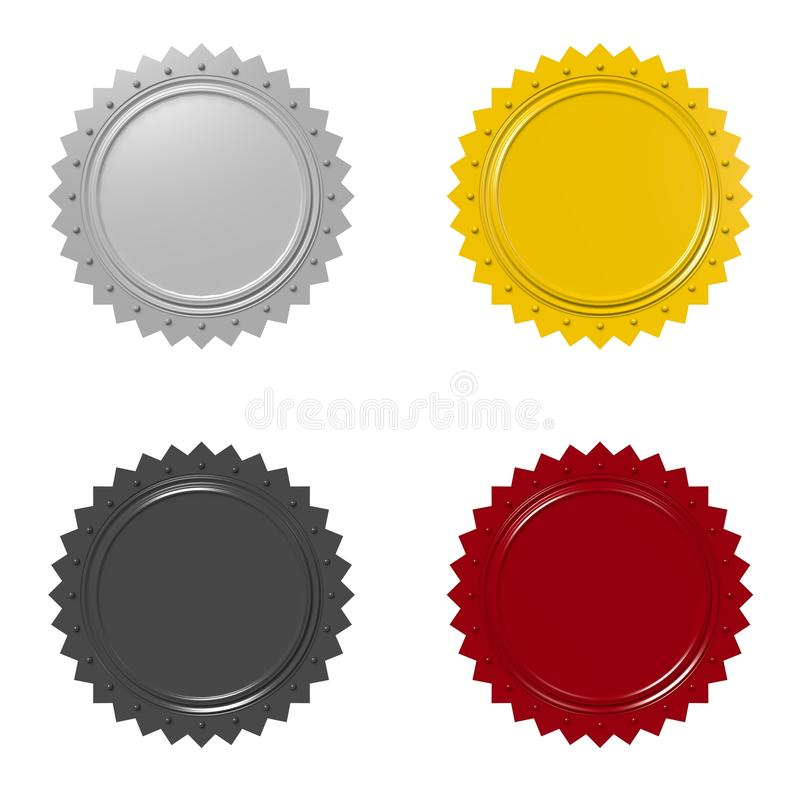 Badges... Badges/ star shape - graphic element to enhance your advertisment royalty free illustration
