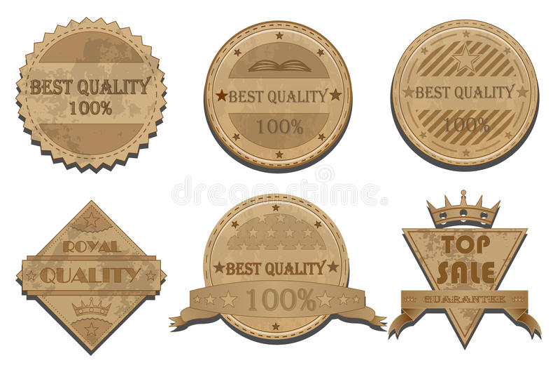 Badges vector set stock illustration