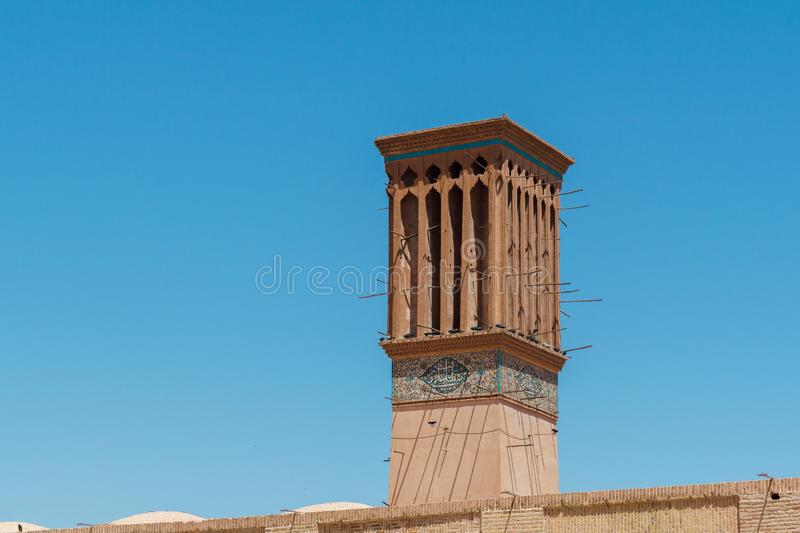 Badgir in kerman iran also known as wind catcher royalty free stock image