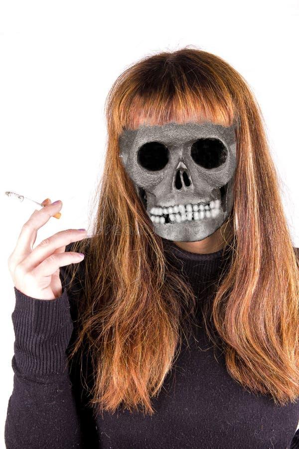 Badgirl-Rauch lizenzfreie stockbilder
