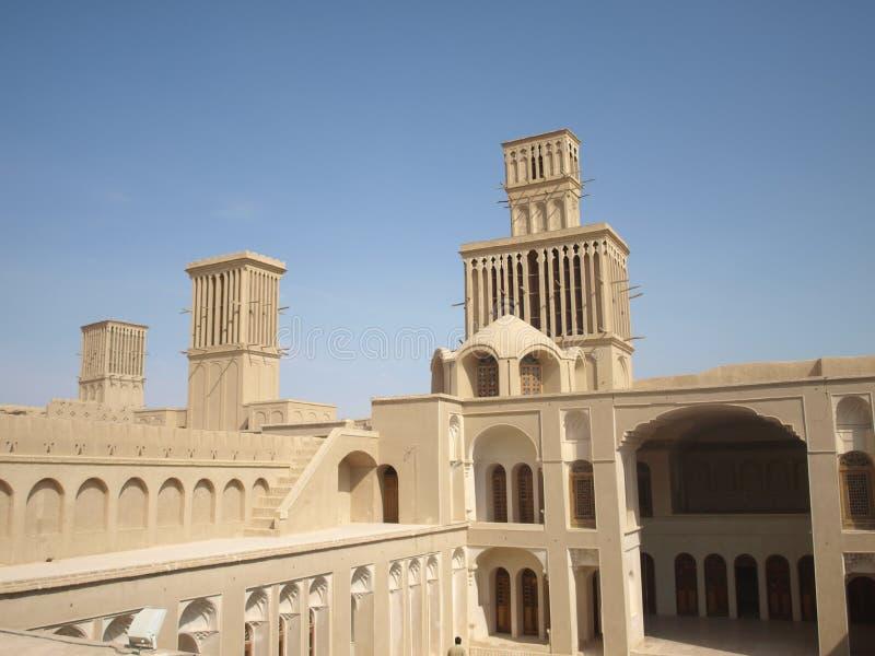 Badgirs w Abarkuh mieście, Iran zdjęcie stock