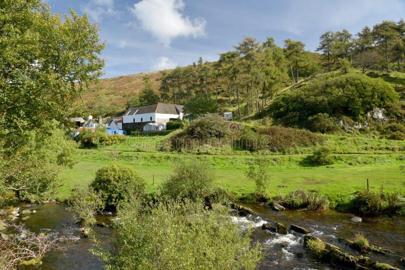 Badgworthy River in Doone Valley, Exmoor, North Devon. Badgworthy River near Malmsmead in the Doone Valley, Exmoor, North Devon royalty free stock photos