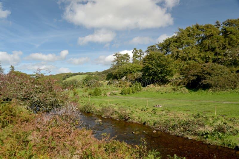 Badgworthy River in Doone Valley, Exmoor, North Devon. Badgworthy River near Malmsmead in the Doone Valley, Exmoor, North Devon royalty free stock photo