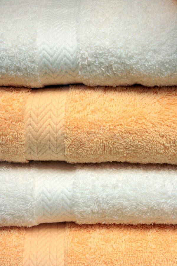 Badhanddoeken, Badstof stock afbeelding