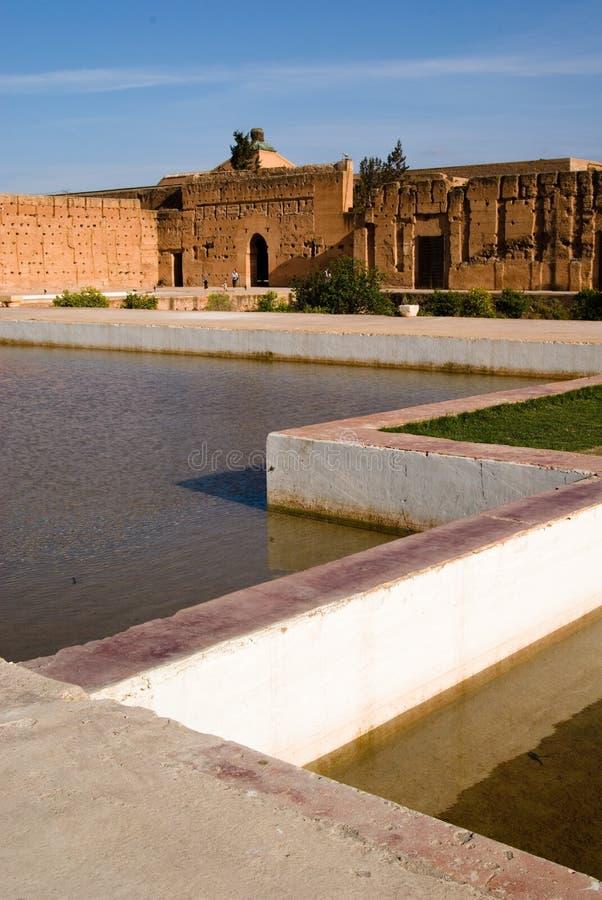 badi el马拉喀什宫殿 库存图片