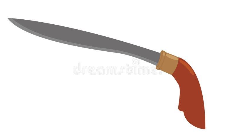Badik印度尼西亚传统武器 免版税库存图片