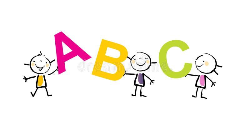Badine des lettres d'ABC illustration de vecteur