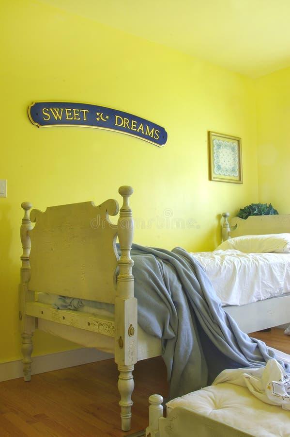 Badine la chambre à coucher photo libre de droits