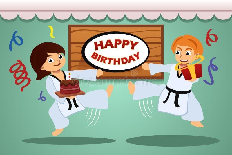 Badine la fête d'anniversaire illustration de vecteur