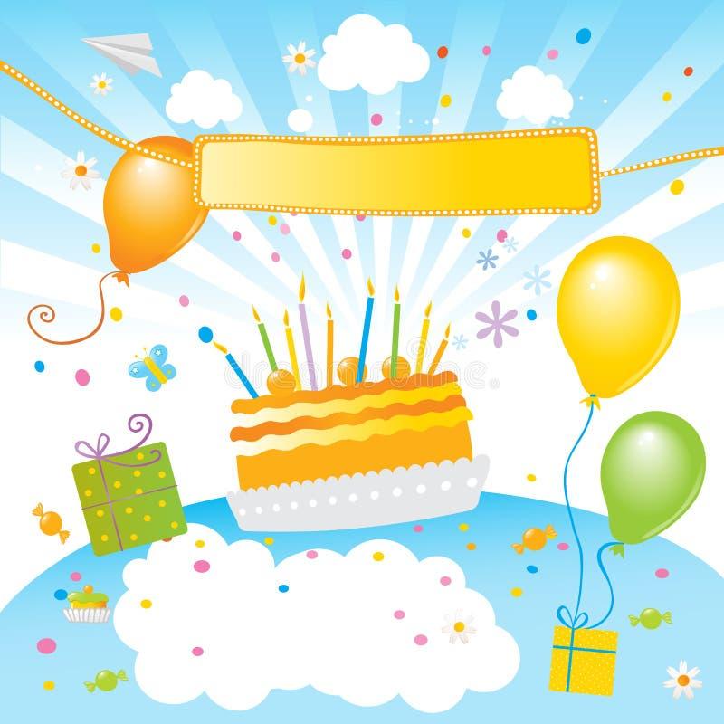 Badine la fête d'anniversaire illustration libre de droits