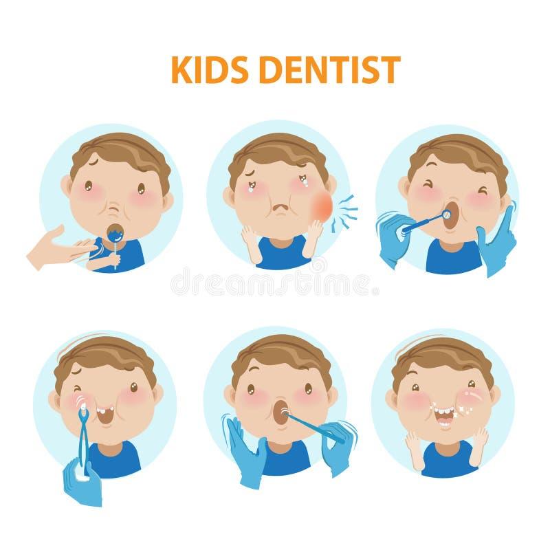 Badine le dentiste illustration libre de droits