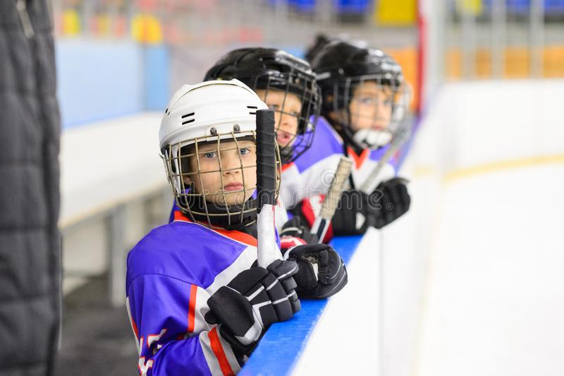 Badine le hockey sur glace photo libre de droits