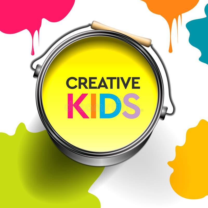Badine le métier d'art, éducation, concept de classe de créativité Illustration de vecteur illustration de vecteur