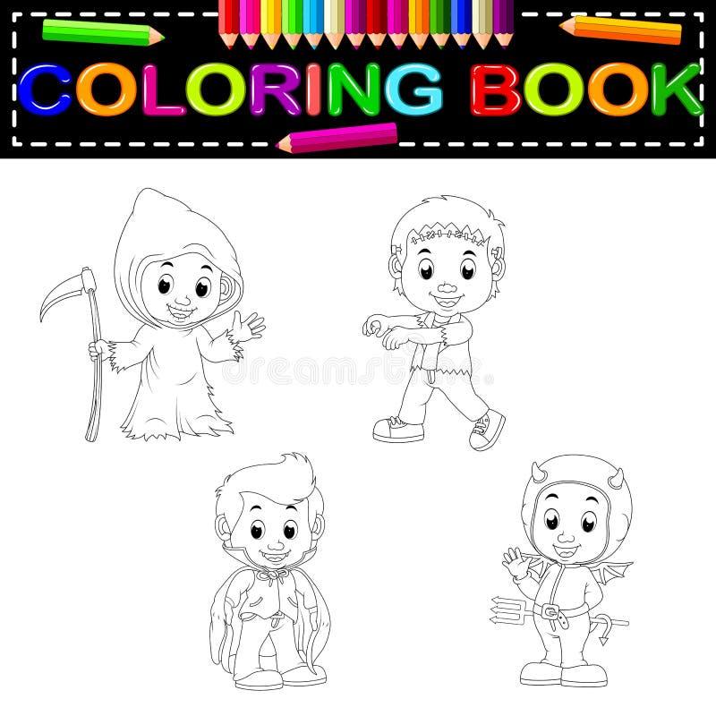 Badine livre de coloriage de Halloween illustration de vecteur