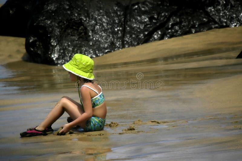 Badinez le temps à la plage photographie stock