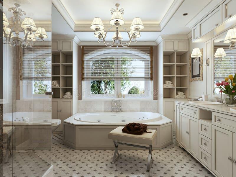 Badkamers Art Deco stock afbeelding. Afbeelding bestaande uit ...