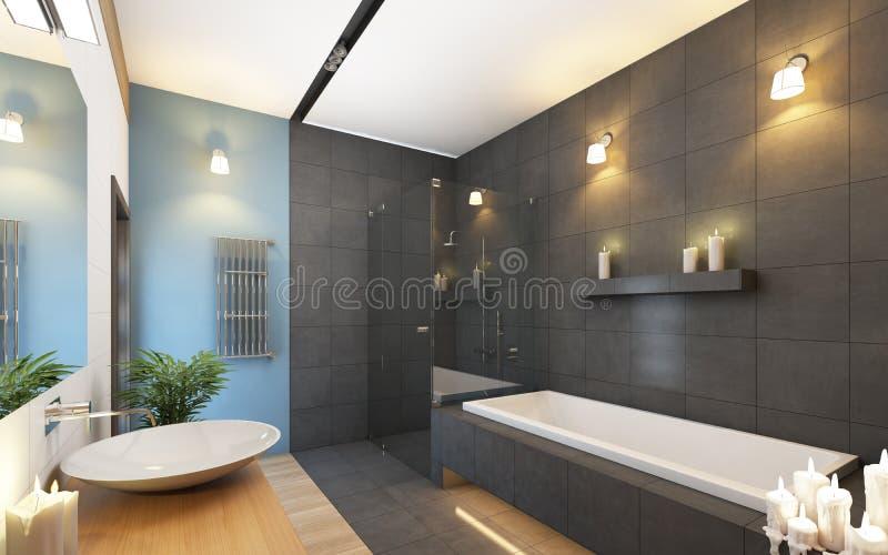 Badkamers in Grijze Kleuren stock illustratie