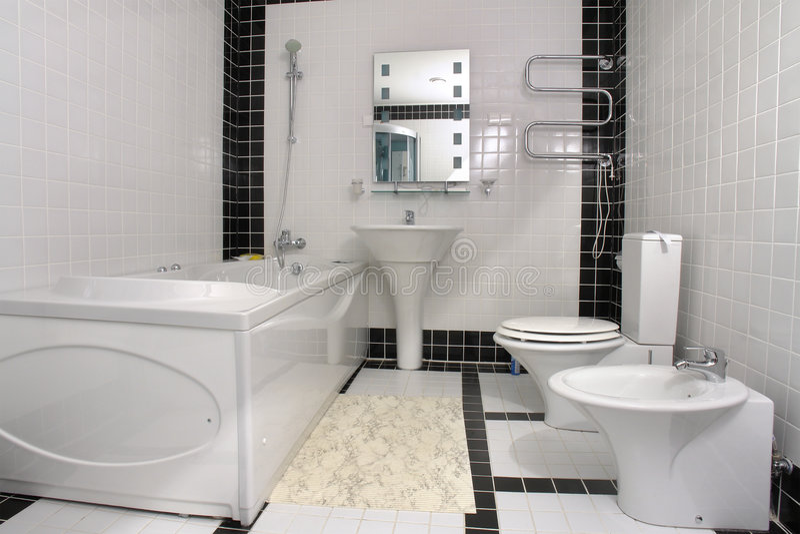 Badkamers met een Jacuzzi stock afbeelding