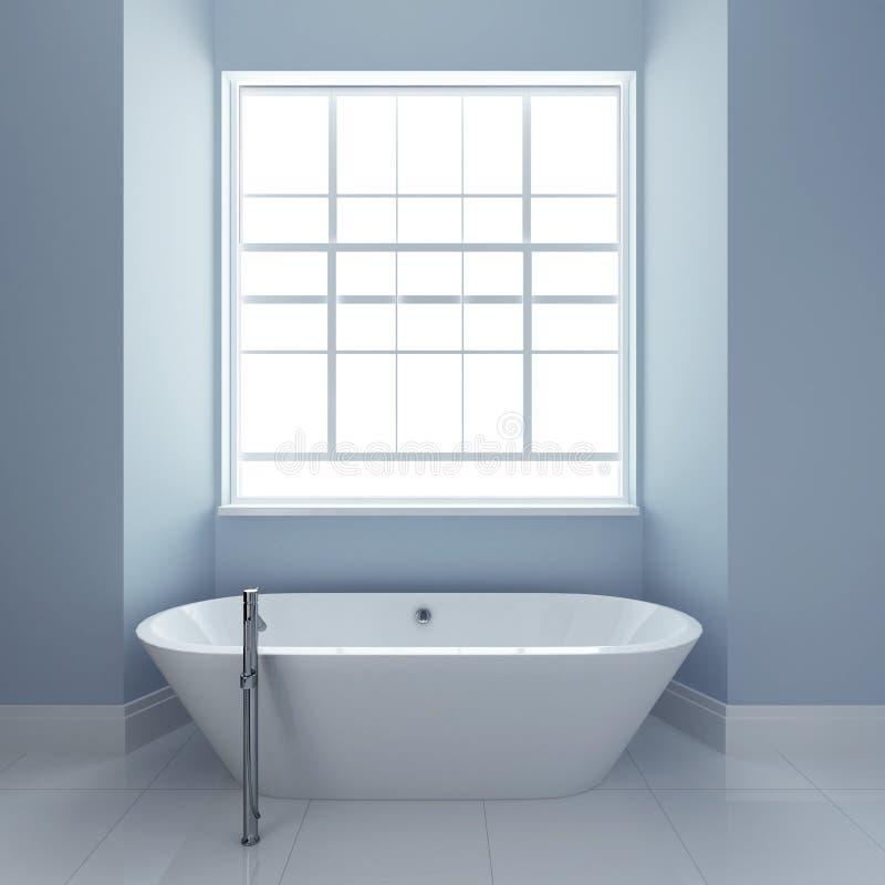 Badkamers met ton en vensters royalty-vrije illustratie