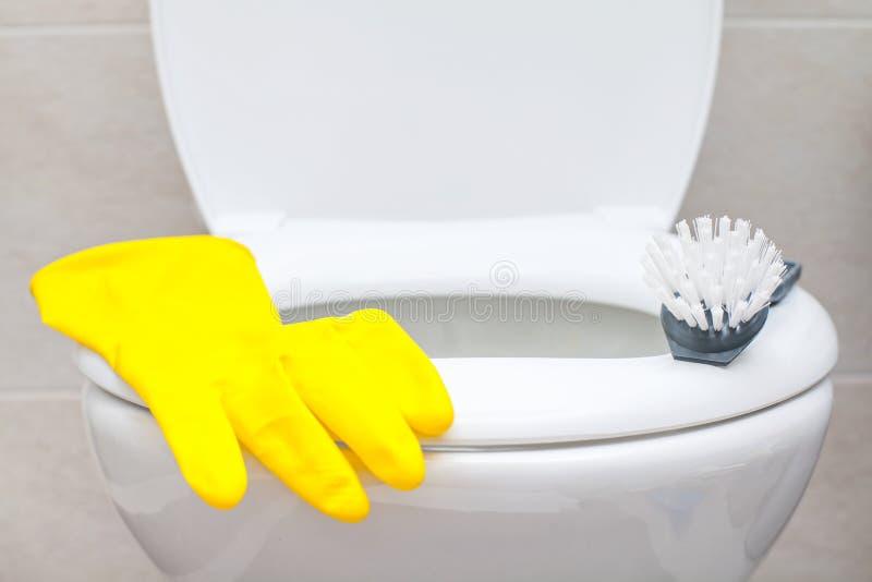 Badkamers schoonmakende producten stock foto's