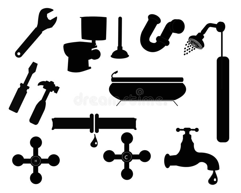 Badkamerspictogrammen vector illustratie
