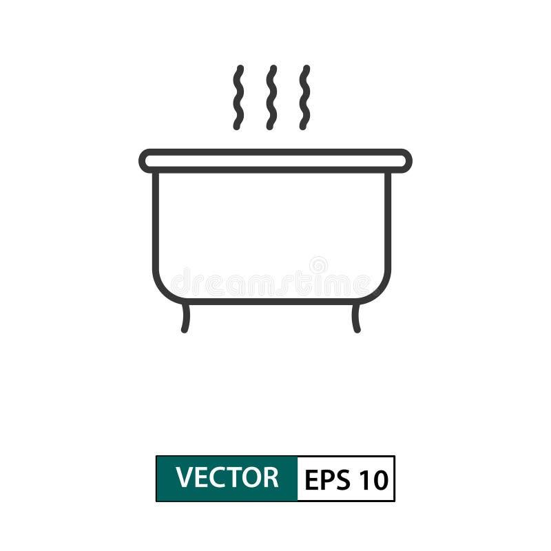 Badkarsymbol ?versiktsstil f?r illustrationsk?ld f?r 10 eps vektor royaltyfri illustrationer