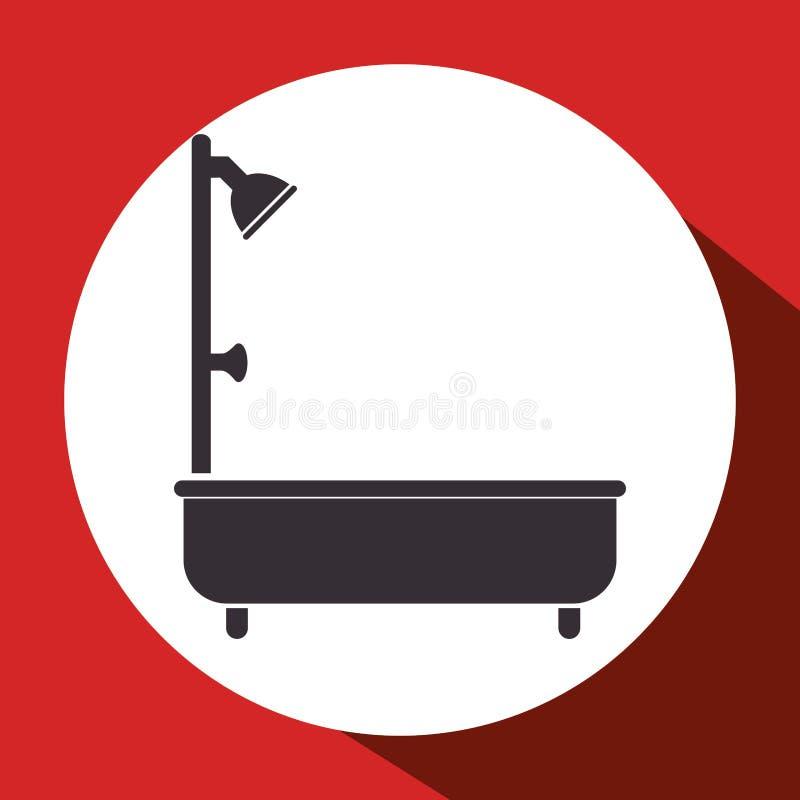 badkuipbadkamers geïsoleerd pictogram royalty-vrije illustratie
