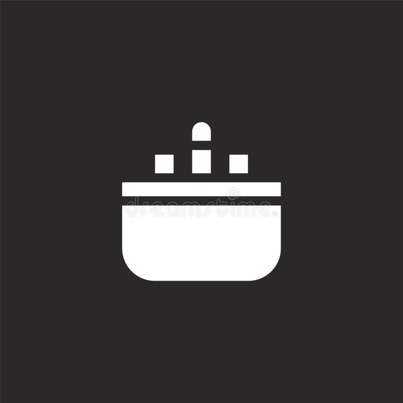 Badkuippictogram Gevuld badkuippictogram voor websiteontwerp en mobiel, app ontwikkeling badkuippictogram van gevuld bed - en - o royalty-vrije illustratie